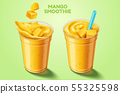 Mango smoothie takeout cup 55325598