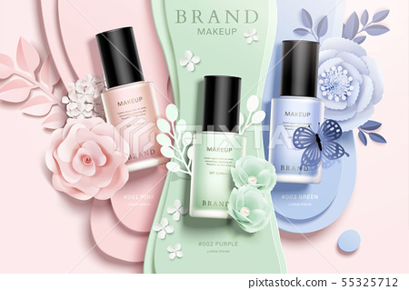 Colorful nail lacquer ads 55325712