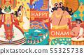 Happy Onam flat design 55325738