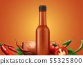 Hot sauce glass bottle 55325800