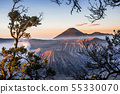 Sunrise at volcano Mt.Bromo (Gunung Bromo) East 55330070