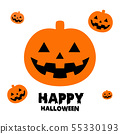 happy halloween background illustration vector 55330193