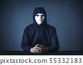 有白色面具的人 55332183