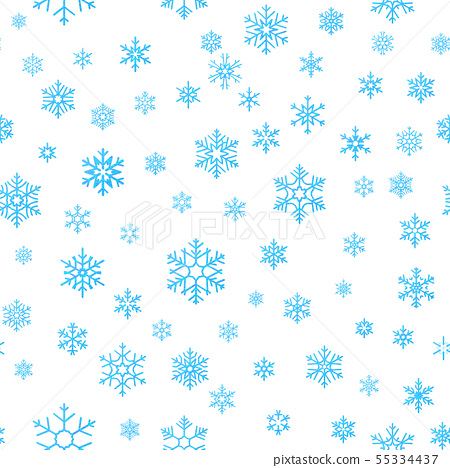 Merry Christmas holiday decoration effect background. Blue snowflake seamless pattern template. EPS 55334437