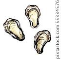 刷画海鲜牡蛎 55334576