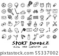 Doodle line sports  Vector illustration 55337002