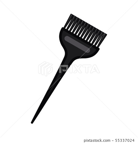 Cartoon black wide hair dye brush 55337024