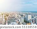 city skyline aerial view of Sendai in Japan 55338558