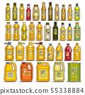 Vector set of Cooking Oil in Bottles 55338884