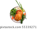Baked cutlet stuffed with ham and cheese, covered 55339271