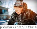 kid, snow, girl 55339418