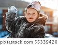winter, child, outdoors 55339420