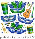 Vector set for Brazil Carnival 55339977