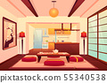 Kitchen in asian style, chinese, japanese room 55340538