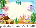 Fish underwater frame scene 55340609