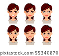 Face expressions of beautiful woman 55340870