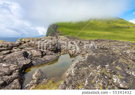 View of Koltur island in Faroe Islands, North 55341432