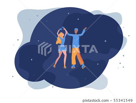 Figure skating concept. Vector illustration. 55341549