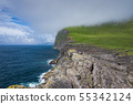 Aerial view of Koltur island in Faroe Islands, 55342124