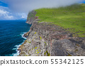 Aerial view of Koltur island in Faroe Islands, 55342125