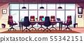 Modern business office meeting room cartoon 55342151