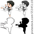 Silhouette, color and outline version 55345110