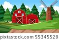 Natural environment scenes landscape with farm 55345529