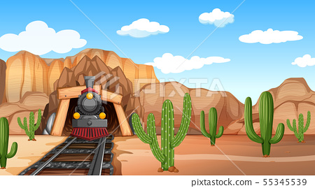 Western desert themed scene in nature 55345539