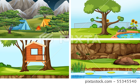Set of scenes in nature setting 55345540