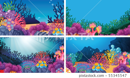 Set of scenes in nature setting 55345547