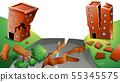 Natural environment lanscape scene 55345575