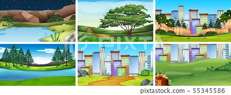 Natural environment lanscape scene 55345586