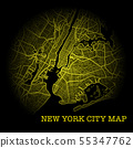New York City yellow map 55347762