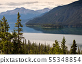 Landscape of Lake Muncho in Canada 55348854
