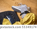 Running shoes and various accessories 55349174