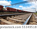 Industrial railway - wagons, rails and 55349518