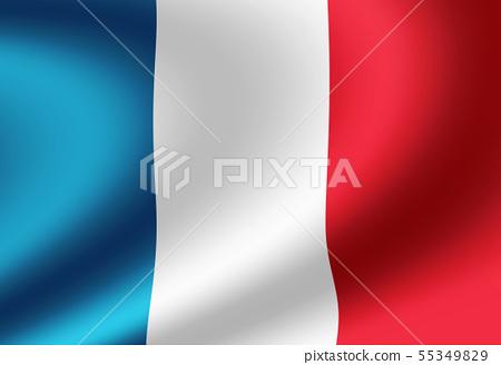 閃亮的緞面料風格國旗圖(法國) 55349829
