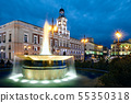 View of Puerta del Sol In Madrid at Night 55350318