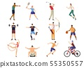 Multi sport vector icon set.  55350557