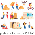 Delivery Company Icon Set 55351161