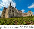 Panoramic view of Hungarian parliament 55351504