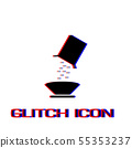 Cereal icon flat. 55353237