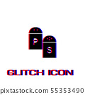 Salt and pepper icon flat. 55353490