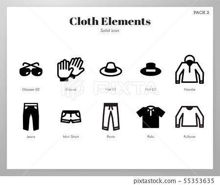 Cloth elements Solid pack 55353635