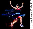 Runner, Woman, Triathlon 55354416