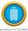 Suitcase on wheels icon blue vector isolated 55359860