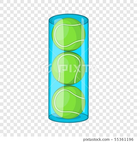 Packaging of tennis balls icon, cartoon style 55361196