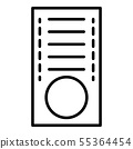 Croquet icon, outline style 55364454
