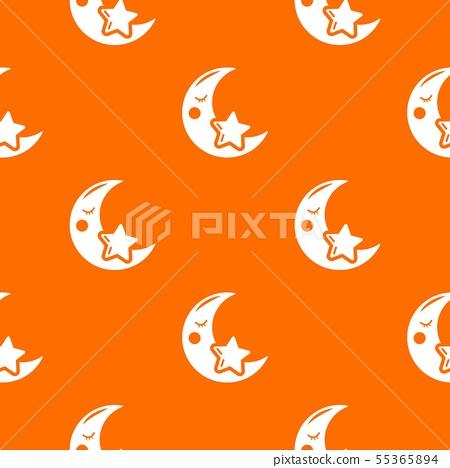 Moon pattern vector orange 55365894