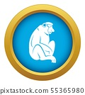 Orangutan icon blue vector isolated 55365980